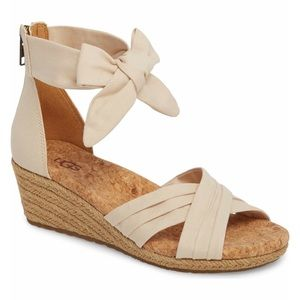 UGG Traci Espadrille Wedge Sandal Size 9.5 NEW